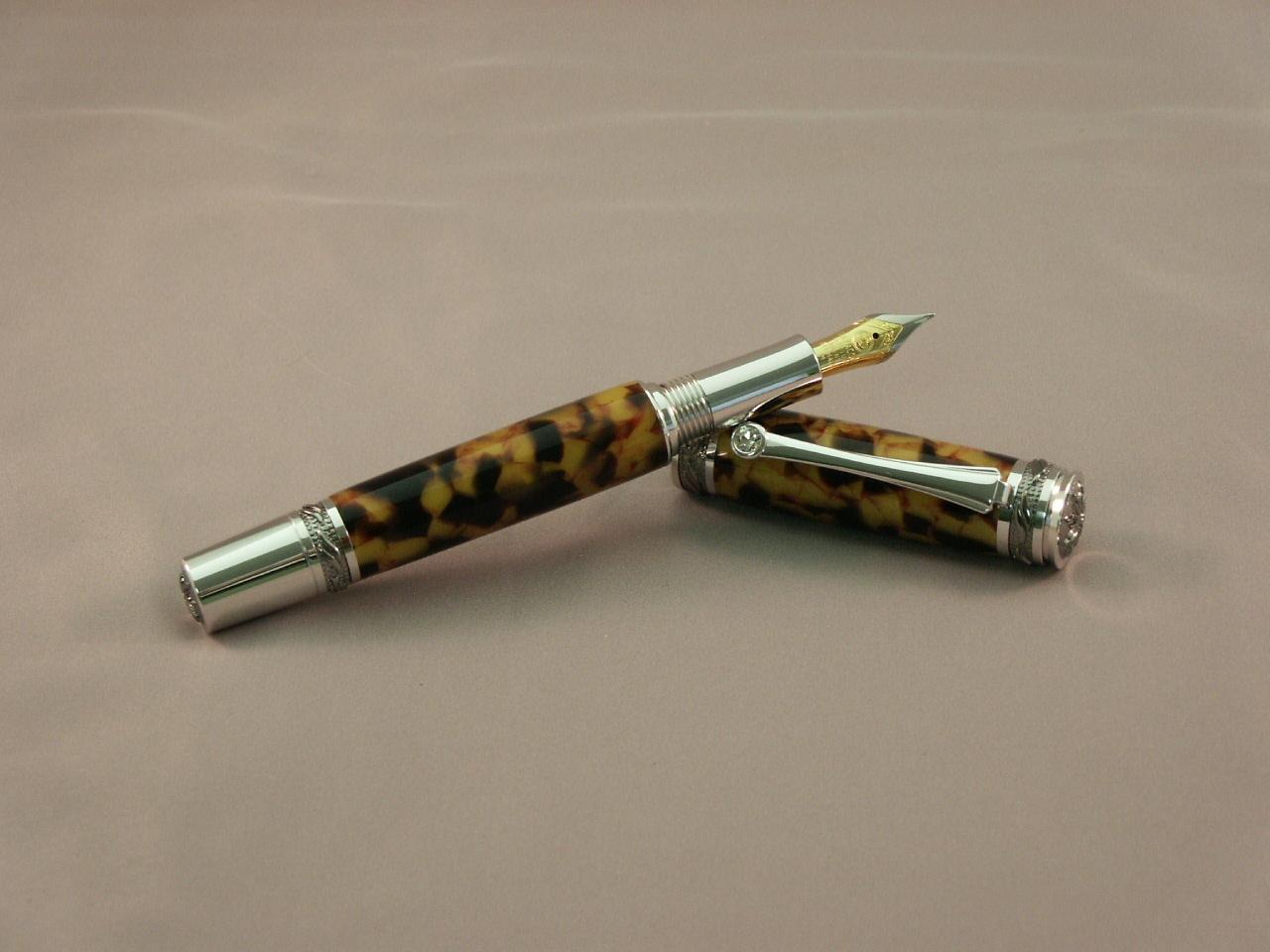Tortoise Shell Fountain Pen