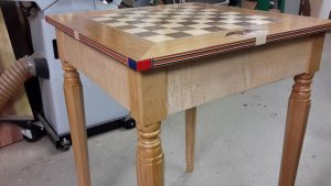 table with top installed