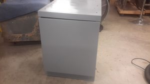 tool cabinet with new paint