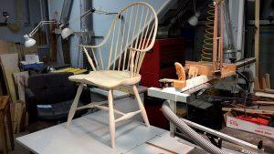 Windsor chair final sanded